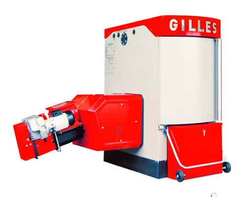 Gilles wood chip boiler
