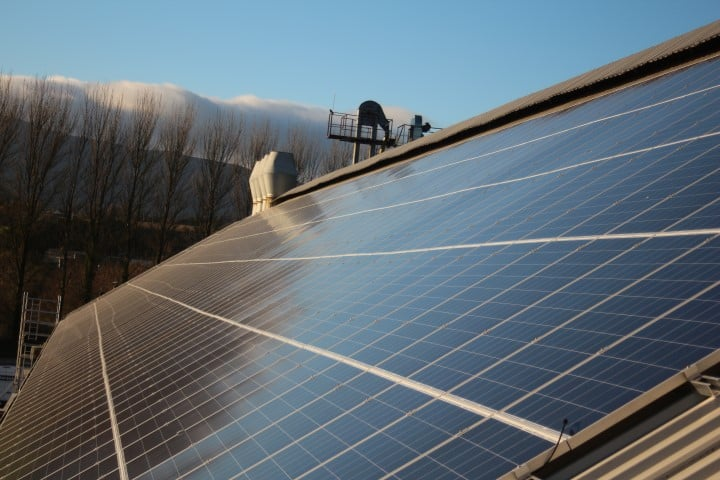 Enerpower install solar panels at Flahavans porridge factory