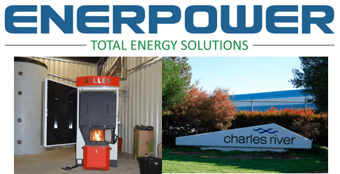 Enerpower Install a 160KW wood chip boiler at Charles river laboratories
