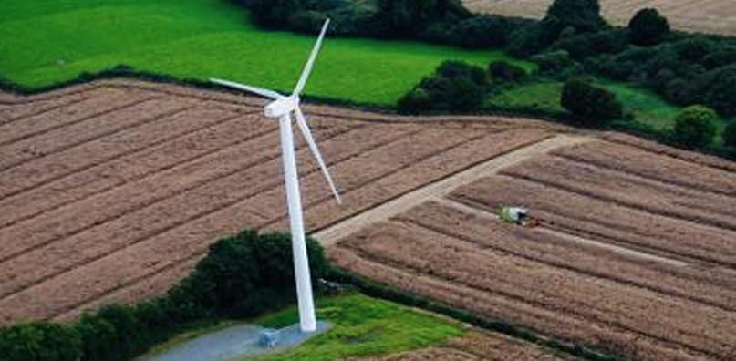 Enerpower Wind Turbine Installed At Louis A. Mcauley (1976) Ltd - Animal Feed